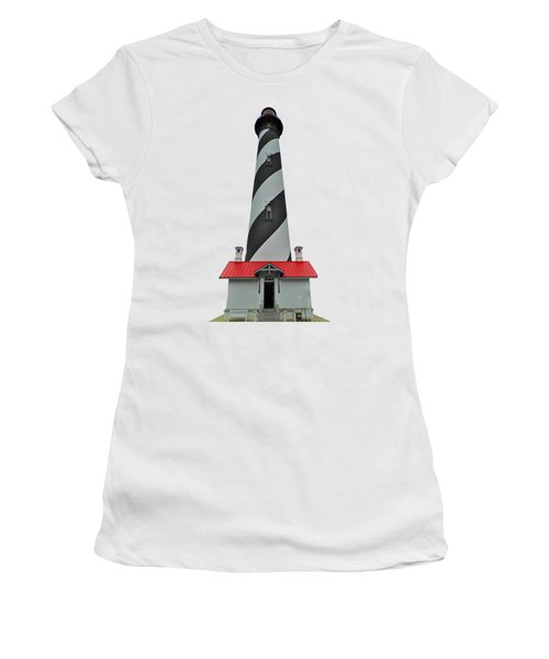 St Augustine Lighthouse Transparent For T Shirts Women's T-Shirt (Junior Cut) by D Hackett