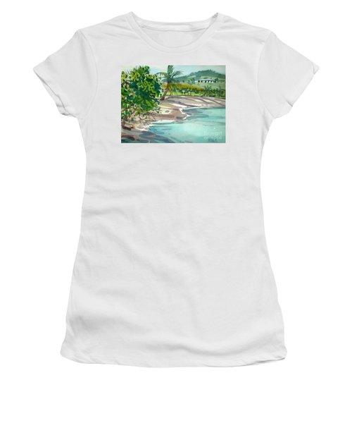 St. Croix Beach Women's T-Shirt (Junior Cut) by Donald Maier