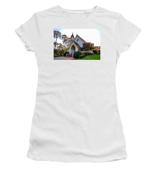 Women's T-Shirt (Junior Cut) featuring the photograph St. James V2 Fairhope Al by Michael Thomas