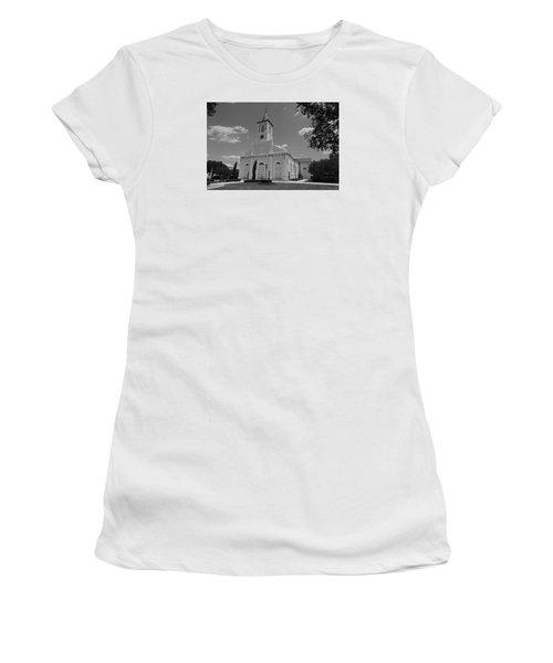 St. Martinville Church Women's T-Shirt (Junior Cut) by Ronald Olivier
