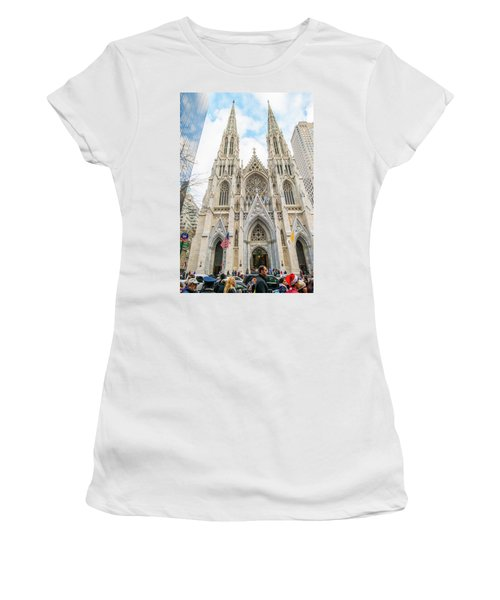 St. Patrick Cathedral In New York Women's T-Shirt