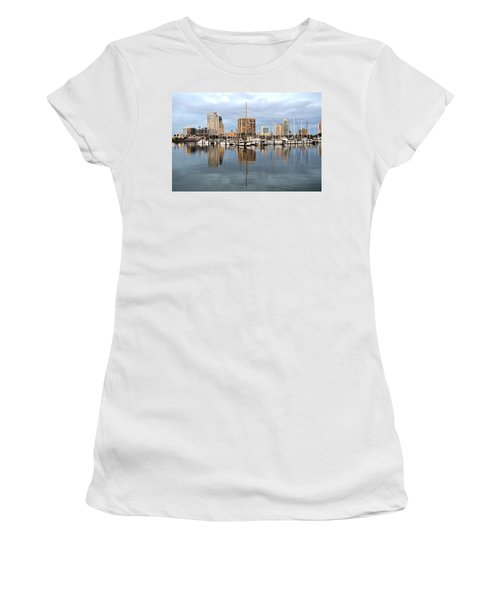 St Petersburg Marina Women's T-Shirt (Athletic Fit)