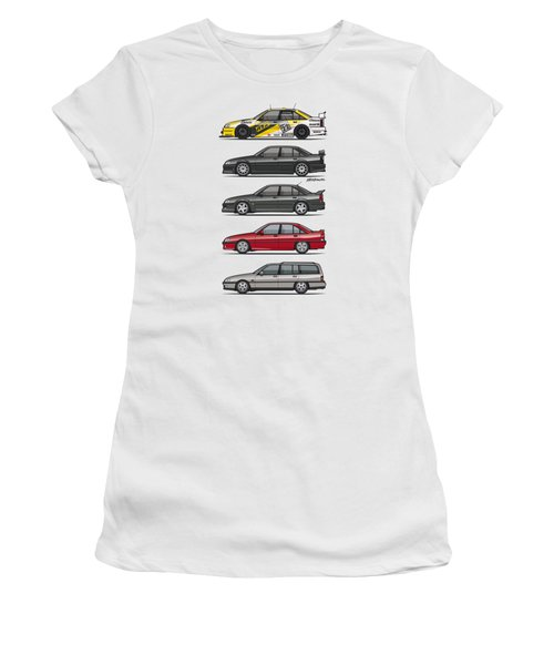 Stack Of Opel Omegas Vauxhall Carlton A Women's T-Shirt