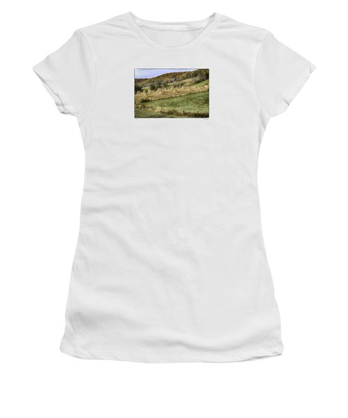Women's T-Shirt (Junior Cut) featuring the photograph Stacked by R Thomas Berner