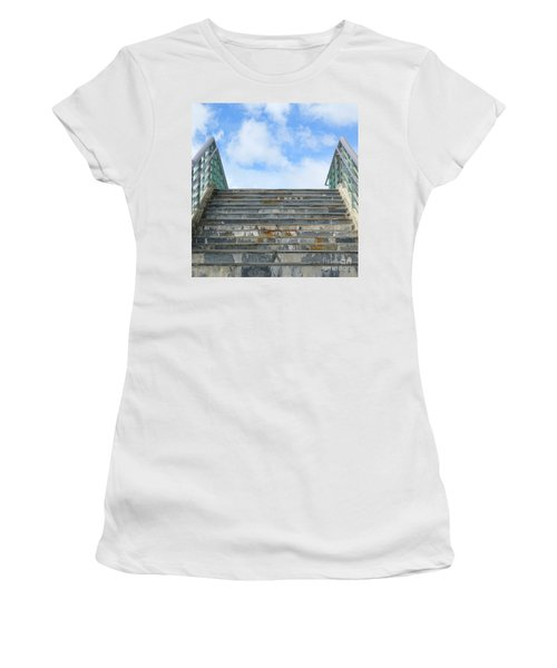 Women's T-Shirt (Athletic Fit) featuring the photograph Stairway To Heaven by Yali Shi
