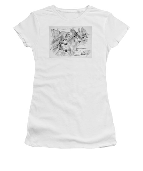 Stampede In Sedona Women's T-Shirt (Athletic Fit)