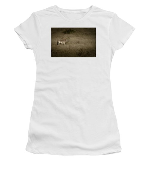 Standing In The Light Women's T-Shirt (Junior Cut) by Roger Mullenhour