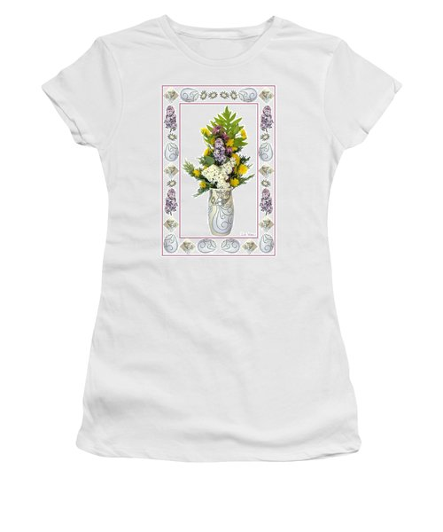 Women's T-Shirt (Junior Cut) featuring the photograph Star Vase With A Bouquet From Heaven by Lise Winne