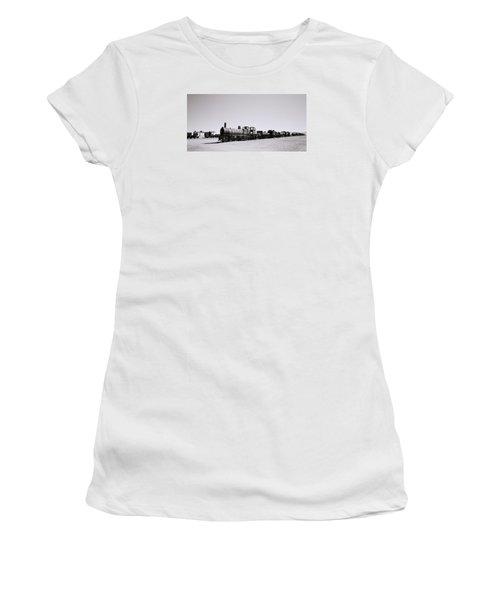 Steam Trains Women's T-Shirt (Junior Cut) by Shaun Higson