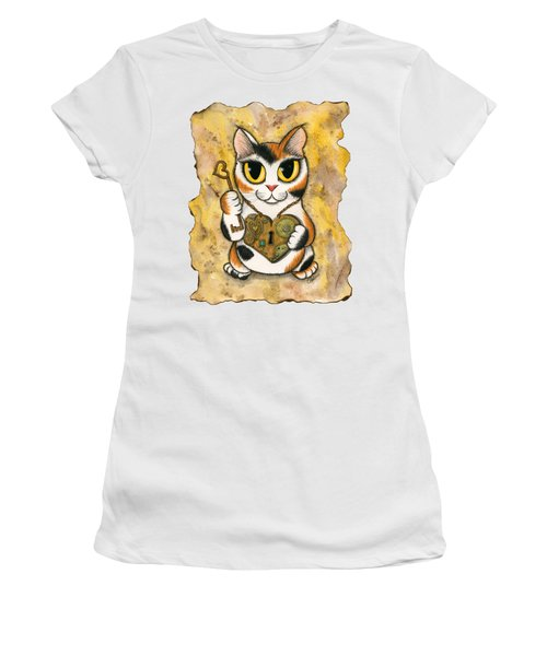 Steampunk Valentine Cat Women's T-Shirt