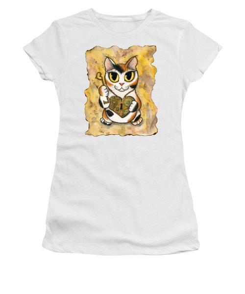 Steampunk Valentine Cat Women's T-Shirt