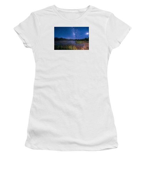Still Night At Upper Molas Lake Women's T-Shirt (Junior Cut) by Michael J Bauer