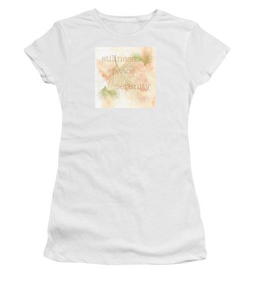 Women's T-Shirt (Junior Cut) featuring the painting Stillness  by Kandy Hurley