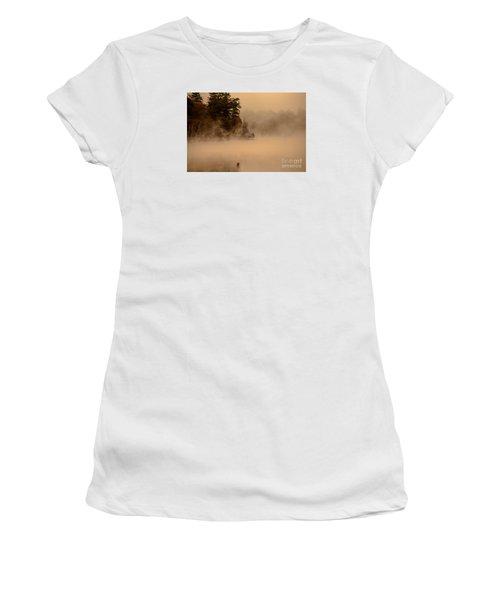 Stillness Of Autumn Women's T-Shirt (Junior Cut) by Sherman Perry