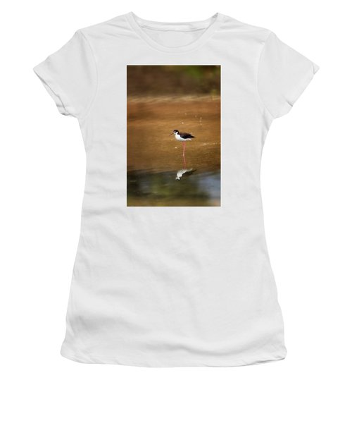 Stilt And Reflection Women's T-Shirt (Athletic Fit)