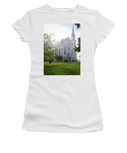 Stone Chapel In Fog Women's T-Shirt