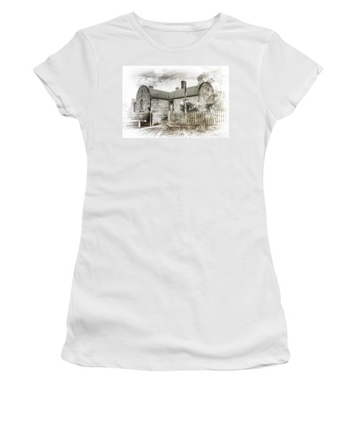 Women's T-Shirt (Junior Cut) featuring the photograph Stone Cottage by Wayne Sherriff