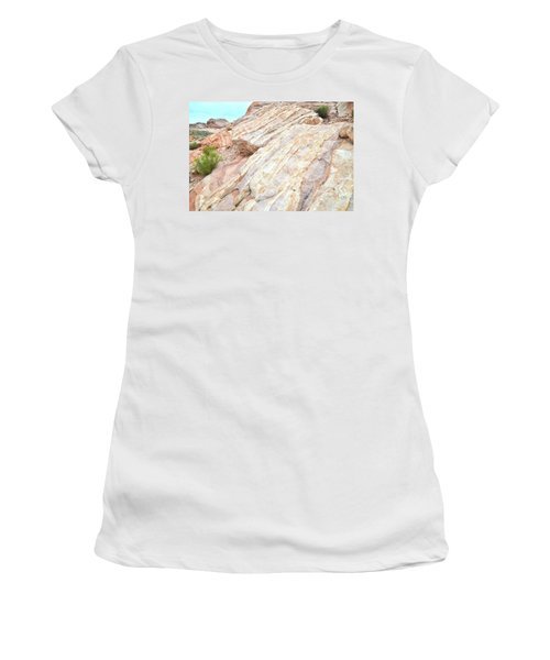 Women's T-Shirt (Junior Cut) featuring the photograph Stone Feet In Valley Of Fire by Ray Mathis