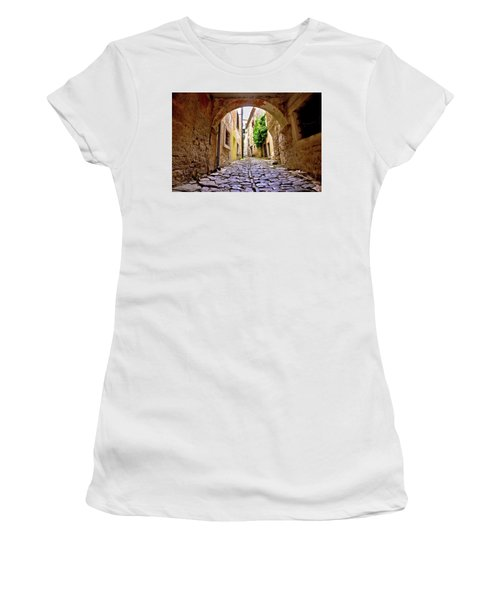 Stone Town Of Groznjan Old Street  Women's T-Shirt (Junior Cut) by Brch Photography