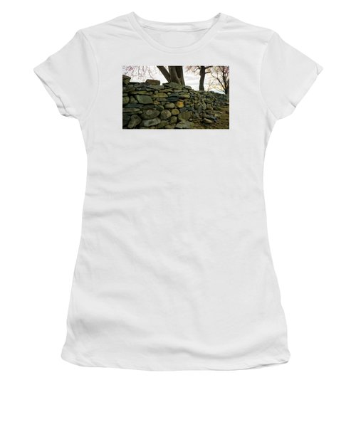 Stone Wall, Colt State Park Women's T-Shirt