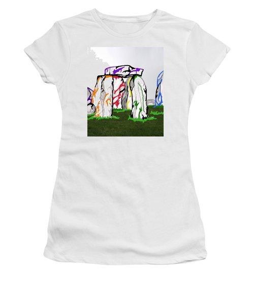 Stonehenge Chakras Women's T-Shirt