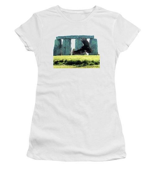 Stonehenge Crow Women's T-Shirt (Athletic Fit)