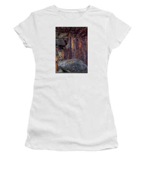 Women's T-Shirt (Junior Cut) featuring the photograph Rusted Stones 2 by Steve Siri
