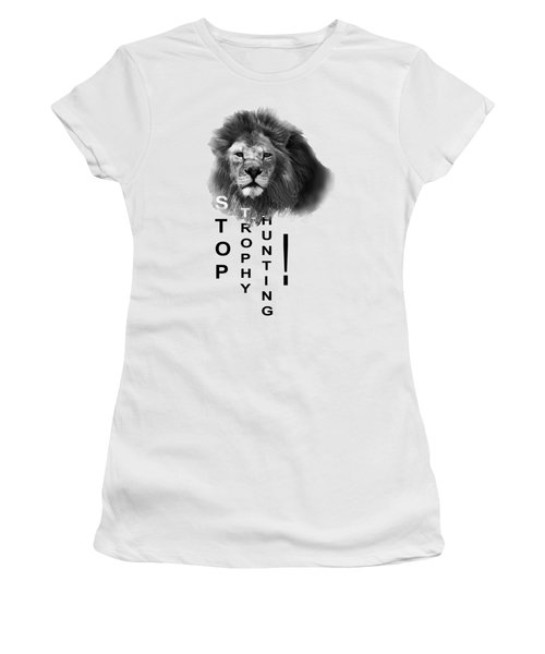 Stop Trophy Hunting 02 Women's T-Shirt (Athletic Fit)