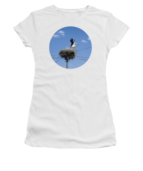 Storks Nest Alentejo Women's T-Shirt (Junior Cut) by Mikehoward Photography