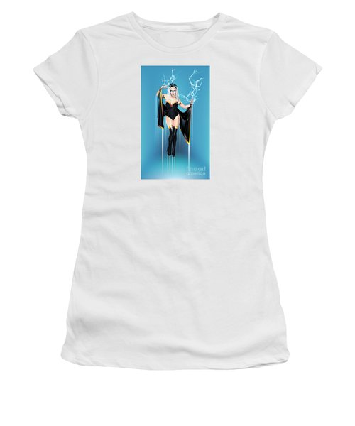 Women's T-Shirt (Athletic Fit) featuring the digital art Storm by Brian Gibbs