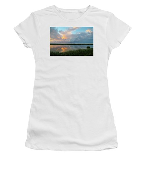 Storm Cloud Reflections At Sunset Women's T-Shirt (Athletic Fit)