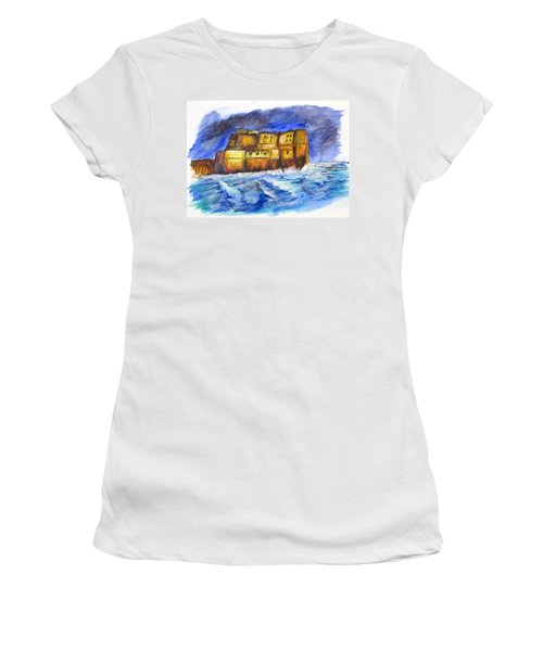 Stormy Castle Dell'ovo, Napoli Women's T-Shirt (Junior Cut) by Clyde J Kell