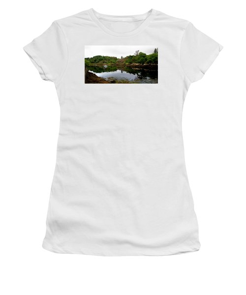 Women's T-Shirt (Athletic Fit) featuring the photograph Stornoway Calm by Rasma Bertz