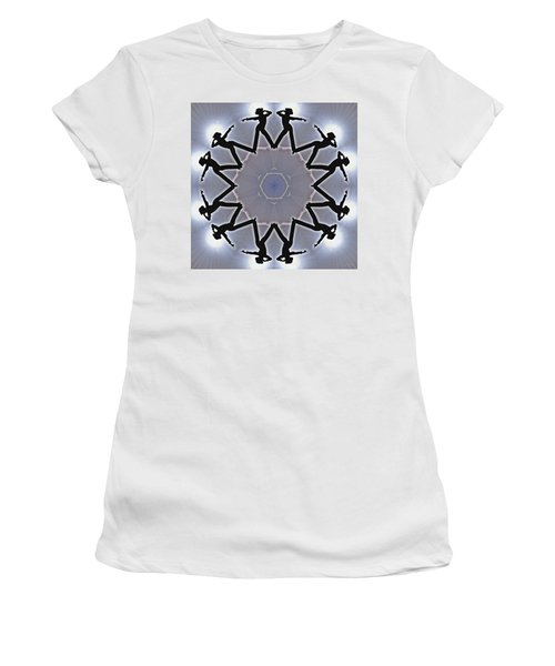 Women's T-Shirt (Athletic Fit) featuring the digital art Straight Shooter by Derek Gedney