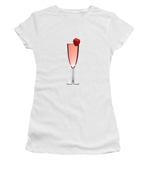 Strawberry Champagne Women's T-Shirt (Athletic Fit)