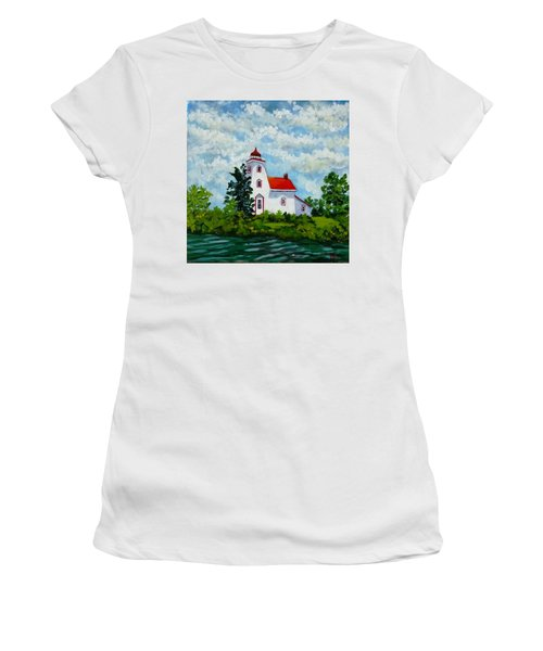 Strawberry Island Lighthouse, Manitoulin Island Women's T-Shirt (Athletic Fit)