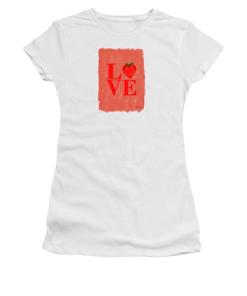 Strawberry Women's T-Shirt (Junior Cut) by Mark Rogan
