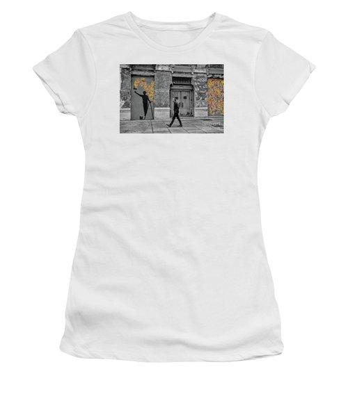 Street Art In Malaga Spain Women's T-Shirt (Junior Cut) by Henry Kowalski