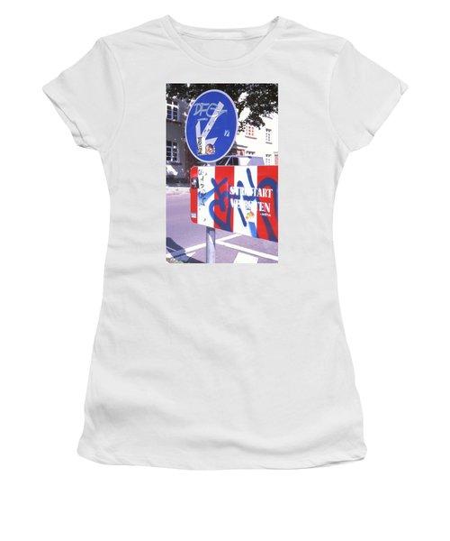 Street Art In Street Sign Women's T-Shirt