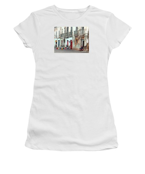 Street Scene Luanda, Angola Women's T-Shirt (Junior Cut) by John Potts