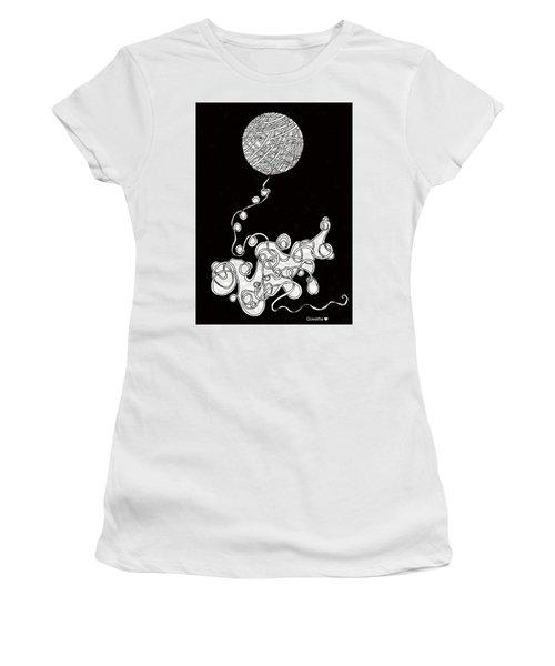 String Energy 1 Women's T-Shirt (Junior Cut) by Quwatha Valentine