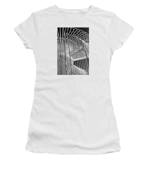 Structure Abstract 4 Women's T-Shirt (Junior Cut) by Cheryl Del Toro