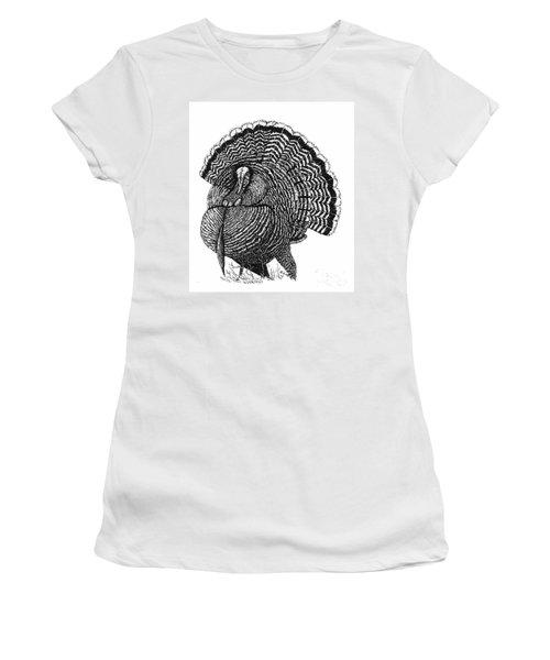 Strutting Gobbler Women's T-Shirt (Athletic Fit)