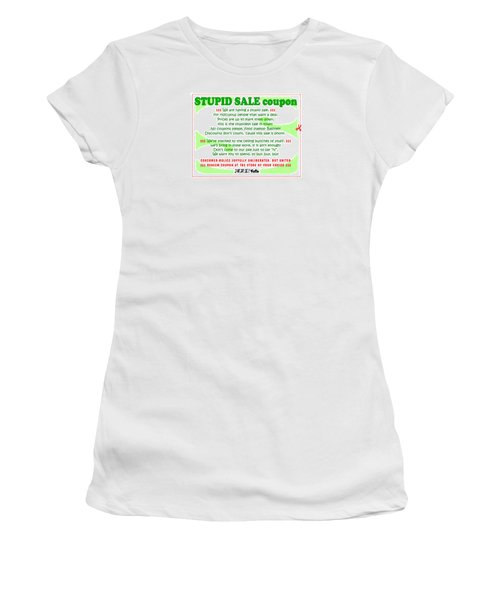 Real Fake News Stupid Sale Ad Women's T-Shirt