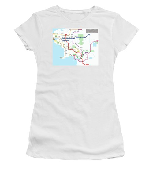 Subway Lines Of Middle Earth Women's T-Shirt (Athletic Fit)