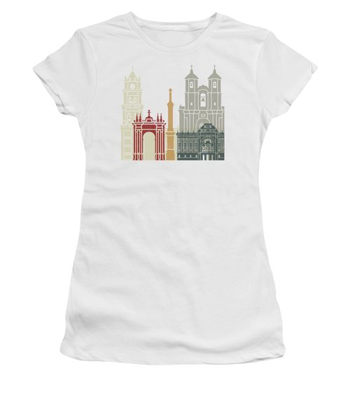 Sucre Skyline Poster Women's T-Shirt (Junior Cut) by Pablo Romero
