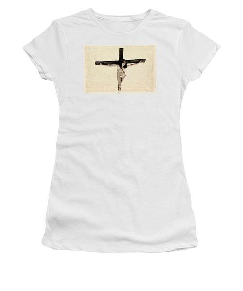 Suffering Of A Woman On Cross Women's T-Shirt