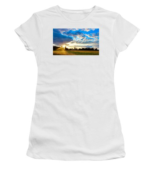 Summer Skies Women's T-Shirt (Athletic Fit)