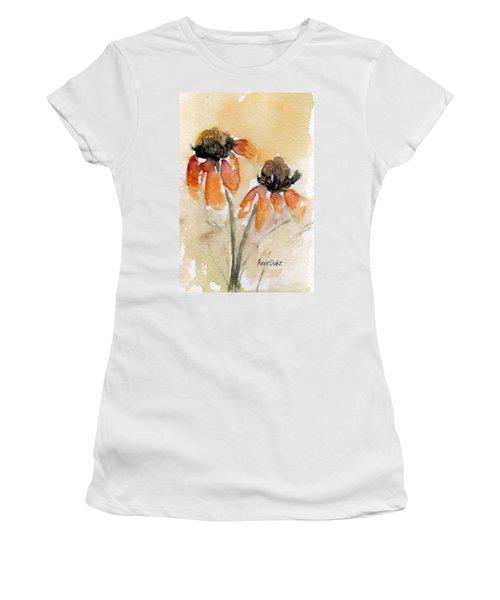 Summer Sunflowers Women's T-Shirt (Junior Cut) by Anne Duke