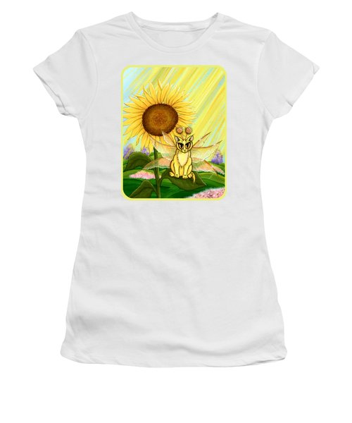 Summer Sunshine Fairy Cat Women's T-Shirt